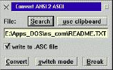 Bild: ANSI2ASC screenshot